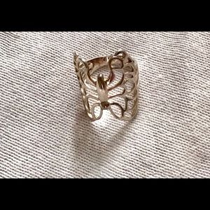 Sterling Silver butterfly design ring